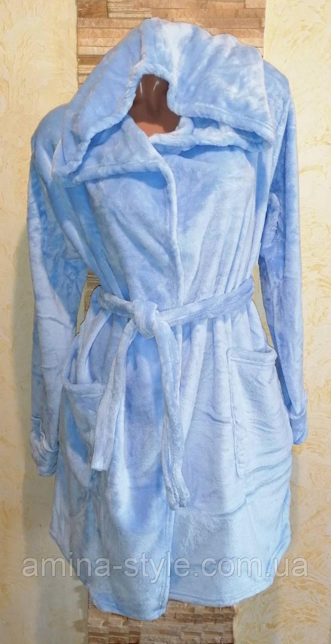 Махровые халаты женские, подростковые. Размер  44-46