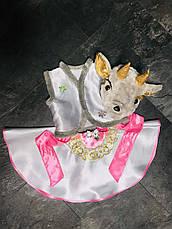 Костюм Козочка 4,5,6,7 лет. Детский новогодний карнавальный костюм для детей Коза для девочки 342, фото 3