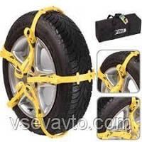 Браслеты противоскольжения на колеса VIMAX MSC 704, 145-285мм, пластиковые ремни на колеса 10шт + перчатки