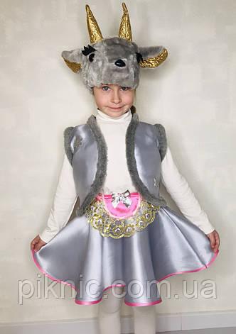 Костюм Козочка 4,5,6,7 лет. Детский новогодний карнавальный костюм для детей Коза для девочки 342, фото 2