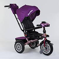 Велосипед Best Trike для детей 3-х колёсный с поворотным сиденьем, складной руль, с корзиной для игрушек.