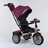 Велосипед для детей 3-х колёсный Best Trike с поворотным сиденьем, складной руль, с корзиной для игрушек.