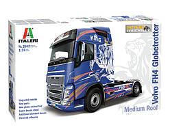 VOLVO FH4 Globetrotter Medium Roof. Сборная модель грузового автомобиля в масштабе 1/24. ITALERI 3942