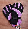 Зимние, детские непромокаемые перчатки. Светло-сиреневые 11-13 лет