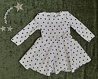 Детское платье на девочку Сердечки р. 92-116 белое