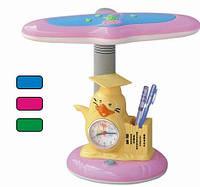 Настольная лампа Tinko Пингвин с часами, школьная