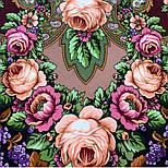 Воспоминания о лете 563-18, павлопосадский платок (шаль) из уплотненной шерсти с шелковой вязанной бахромой, фото 7