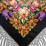 Воспоминания о лете 563-18, павлопосадский платок (шаль) из уплотненной шерсти с шелковой вязанной бахромой, фото 9