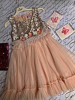 Детское платье на девочку Весняночка  р.110, 116,122, персик