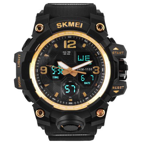 Часы наручные SKMEI 1155 Black-Gold