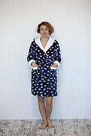 Короткий халат махровый с капюшоном на запах лапки, фото 1