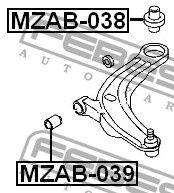 Сайлентблок важеля MAZDA MPV II (LW) 1999-2006 р.
