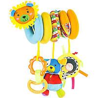 Развивающая игрушка-спираль Счастливая семейка с грызуном и зеркалом new ТМ Mioobaby