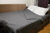 Комплект постельного белья Серый с узором (двуспальный)