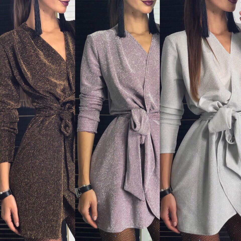 Платье женское вечернее серебро, розовый, чёрное золото, 42-44, 46-48