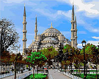 Раскраска по цифрам DIY Babylon Стамбул Голубая мечеть  (VP485) 40 х 50 см