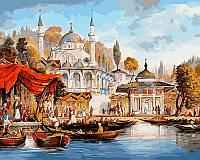 Раскраска по цифрам Стамбул Мечеть Ускюдар Худ Таркер Аян (VP486) 40 х 50 см