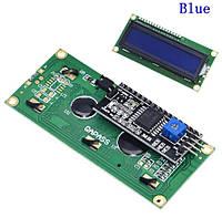 LCD дисплей 1602A 16x2 с I2C переходником, синяя подсветка ЖК Arduino дисплей
