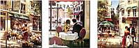 Раскраска по цифрам Триптих Летняя романтика (VPT001) 50 х 150 см