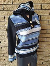 Свитер, кофта женская  брендовая высокого качества с капюшоном   R.LEEZIO, Турция, фото 3