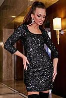Красивое модное нарядное платье на Новый год цвет: черный, размер: S, L, XL, M