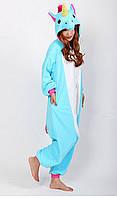 Кигуруми пижама костюм  Единорог голубой My little pony М 140 на рост 155-165