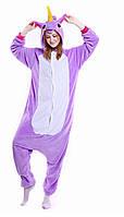Кигуруми пижама костюм  Единорог фиолетовый My little pony S 125 на рост 145-150