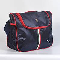 Спортивная молодежная сумка через плечо Puma - Код 19-9 - (черная)