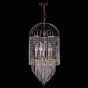 Хрустальная люстра на цепи классическая на 5 лампочек P5-E1465/5/FG