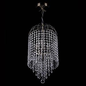 Хрустальная люстра на цепи классическая на 3 лампочки P5-E1465/3/AB