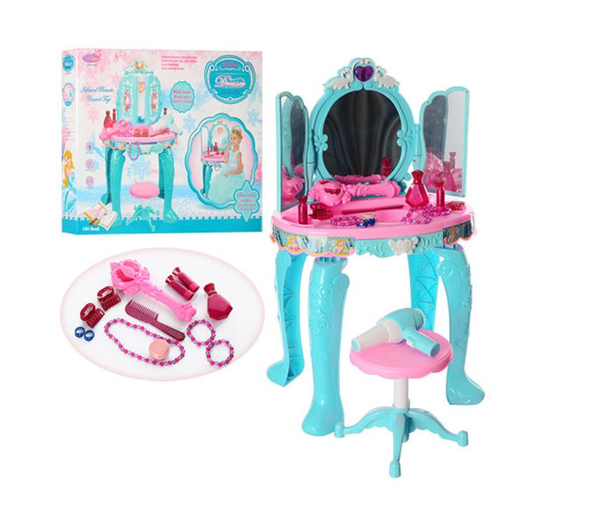 Детское трюмо Limo Toy звук, свет, стульчик, фен, аксессуары