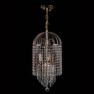 Кришталева люстра на ланцюгу класична на 3 лампочки P5-E1465/3/FG