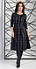 Очаровательное женское платье миди в клетку, фото 4