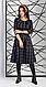 Очаровательное женское платье миди в клетку, фото 3