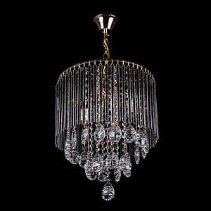 Классическая хрустальная люстра на цепи на 4 лампочки (золото) P5-E1439/4/