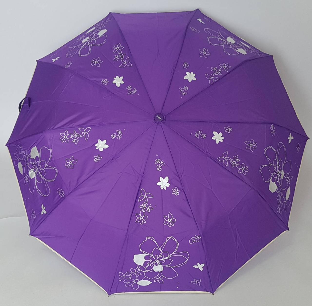 Женский яркий зонтик с карбоновыми спицами в расцветках