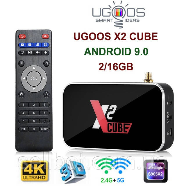 TV-Приставка Ugoos X2 Cube 2GB/16GB (Android Smart TV Box)