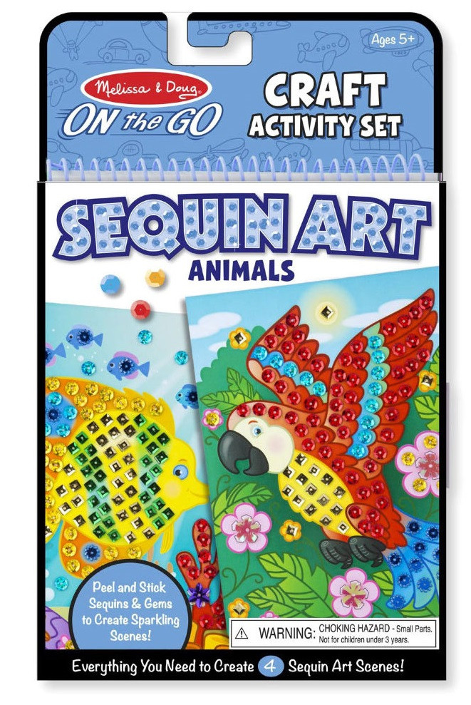 Набір для творчості Мерехтлива мозаїка Тварини Melіssa&Doug (MD9438)