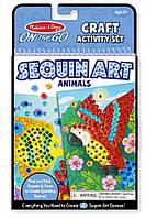 Набір для творчості Мерехтлива мозаїка Тварини Melіssa&Doug (MD9438), фото 1