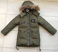 Куртка зимняя на мальчика 104-110 зеленый, фото 1