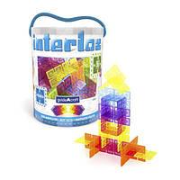 Конструктор Guidecraft Interlox Squares Квадраты, 96 деталей (G16835), фото 1