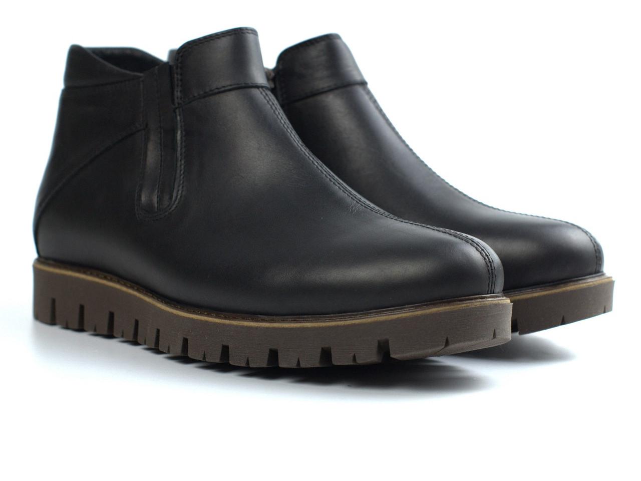 Последний размер 43 кожаные зимние мужские черные ботинки криперы Код443164444