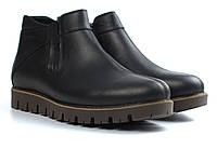 Последний размер 43 кожаные зимние мужские черные ботинки криперы Код443164444, фото 1