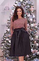 Нарядный женский костюм юбка + кофта (Батал)