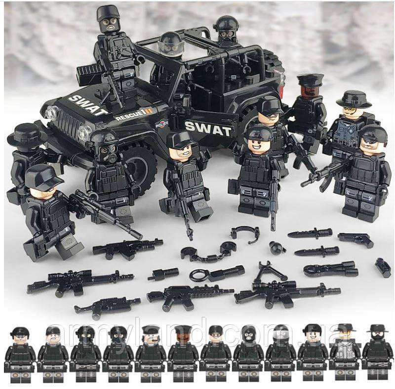 Военная полиция на джипе SWAT BrickArms