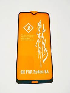 Защитное стекло 6D для Xiaomi Redmi 8A Full Glue Черное