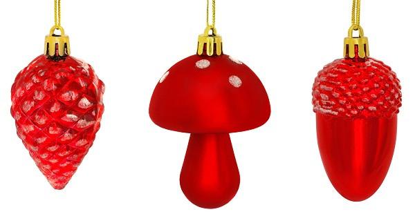 Украшение декоративное пластиковое в асс. 8 см, цвет красный, House of Seasons