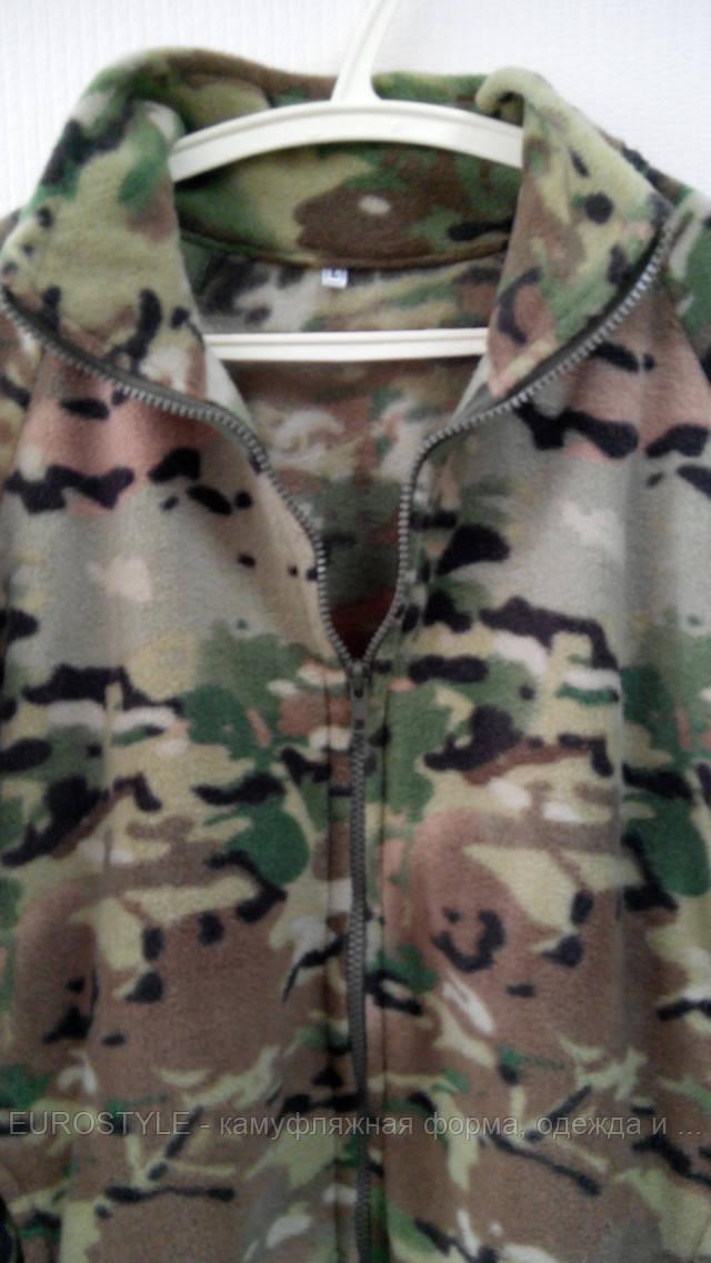 Флисовая куртка камуфляж мультикам