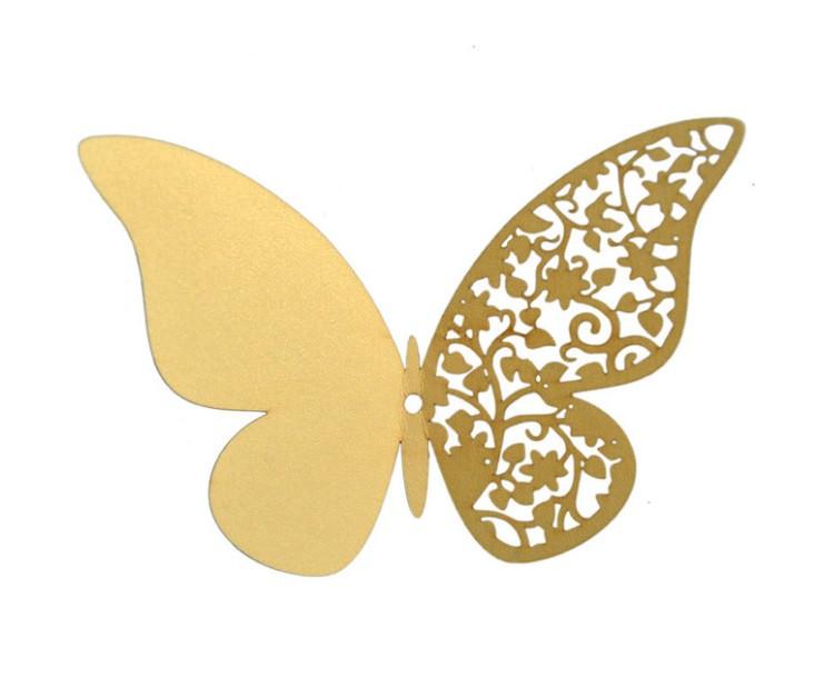 Наклейки на стену Бабочки 3d ажур светло желтые 12 шт. в упаковке