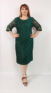 Турецкое вечернее кружевное женское платье больших размеров 54-60